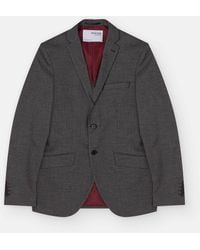 SELECTED Gray Nick Single-breasted Blazer