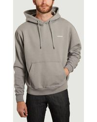 Avnier Vertical Logo Hoodie Vertical - Grey