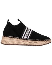 Kendall + Kylie Kendall + Kylie Fabric Slip On Trainers - Black