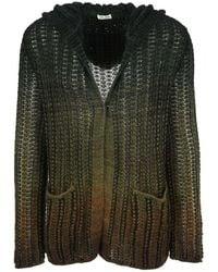 Saint Laurent Crochet Baja Cardigan - Green