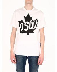 DSquared² - T-shirt Logo White - Lyst