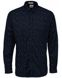 SELECTED Seamus Shirt - Blue