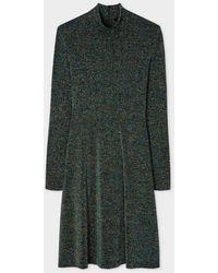Paul Smith Glitter Funnel Neck Dress W2r-399d-e30646 - Green