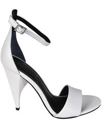 Kendall + Kylie - Kendall + Kylie Women's Emilee01whi White Leather Sandals - Lyst