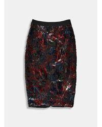 Essentiel Antwerp Antwerp Temptation Sequin Skirt - Red