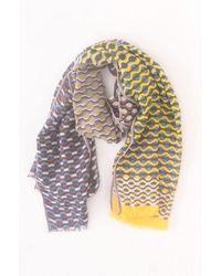 Epice Printed Scarf - Yellow