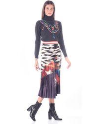 Stella Jean Plisse Skirt - Blue
