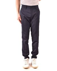 Paolo Pecora Pants In Blue - Black