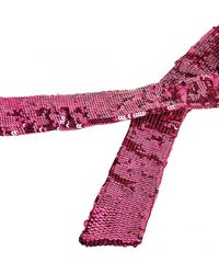 The Attico Sequined Belt - Pink