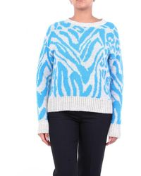 ACTUALEE Knitwear Crewneck - Blue