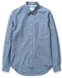 Norse Projects Osvald Chambray - Indigo - Blue