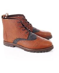 TOMS Leather Brogue Boots - Brown