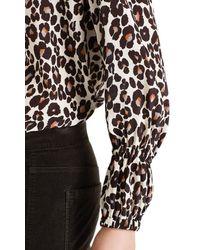 Marc Cain Silk Leopard Print Blouse - Black
