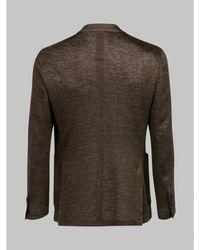 Lardini Linen Blazer (brown)
