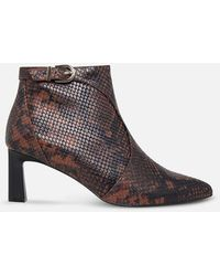 Joie Rawly Python Print Ankle Boots - Brown