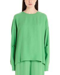 Sara Battaglia Acetate Blouse - Green