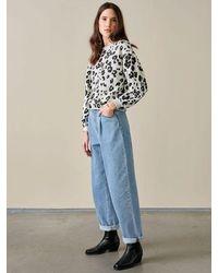 Bellerose Fafi Leopard Sweatshirt In - Gray