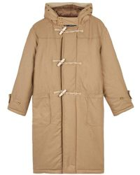 Gloverall Portsmouth Padded Duffle Coat Camel - Natural