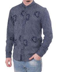 Scotch & Soda Scotch & Soda Refined Ls Shirt With Allover Spot Floral Print - Blue