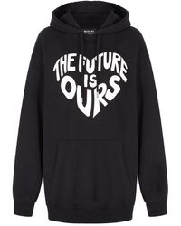 Markus Lupfer 'the Future Is Ours' Over Sized Erin Hoodie - Black
