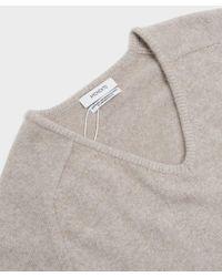 Amomento Racoon V-neck Knit - Grey
