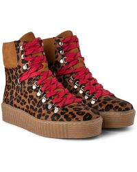 Shoe The Bear Agda Leo Lace Up Boot In Brown Stb1791 - Multicolour