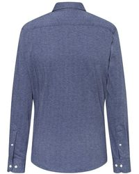 Hackett Herringbone Jersey Shirt - Blue