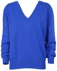 Victoria, Victoria Beckham Victoria Beckham Women's Juknt7153 Blue Wool Sweater