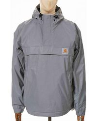 Carhartt Wip Nimbus Reflective Pullover Jacket - Reflective Colou - Grey