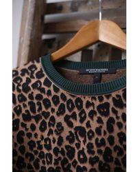 Scotch & Soda Leopard Print Crew Neck Jumper - Multicolour