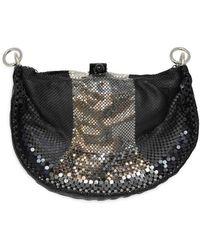 Laura B . Black/multi Strap Handbag