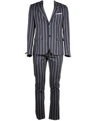 Daniele Alessandrini Wool Suit - Blue