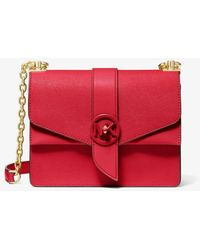 Michael Kors Greenwich Small Saffiano Leather Crossbody Bag - Red