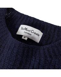 YMC Crew Neck Pullover - Navy - Last Piece - Blue