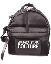 Versace Jeans Backpack In Black