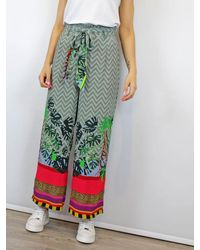 Conditions Apply Culotte Printed Trousers Wide Leg - Pink