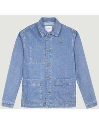 Maison Labiche Worker Amore Jacket Denim Bleached Paris - Blue