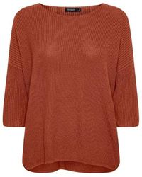 Soaked In Luxury Tuesday Cotton Jumper Red