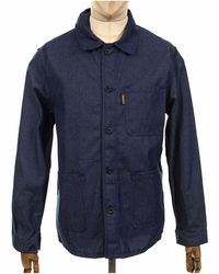 Le Laboureur Denim Twill Work Jacket - Indigo Denim - Blue