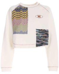 M Missoni White Sweatshirts