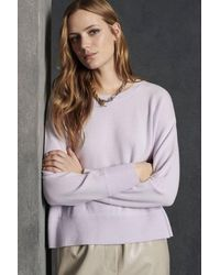 Luisa Cerano Blended Cashmere Pale Lilac Sweater - White