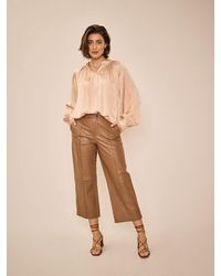 Mos Mosh Como Leather Pant In Toasted Coconut - Brown