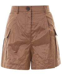 Erika Cavallini Semi Couture Satin Shorts - Brown