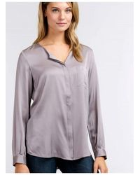Repeat Cashmere Silk Grey Or Blue Blouse