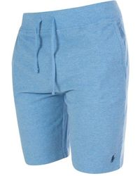 Atterley Ralph Lauren Polo Player Embroidered Fabric Shorts In 005 Soft Ro - Gray