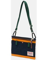 master-piece Link Sacoche Side Bag (02343) - Navy /orange - Blue