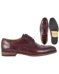 Lacuzzo Claret Leather Brogue - Red
