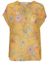 Part Two Helena Floral Top - Yellow