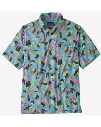 Patagonia Shirt Lw A / C - Spoonbills Big Sky Blue