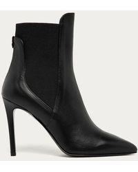 Patrizia Pepe 2v9725 Leather Stiletto Ankle Boots - Black